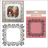 Holly Frame embossing folder EFE025 - Nellie Snellen embossing folders Christmas