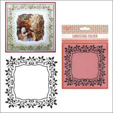 Holly Frame embossing folder EFE025 - Nellie Snellen embossing folders Christmas