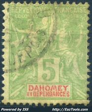 DAHOMEY TYPE GROUPE N° 9 AVEC OBLITERATION
