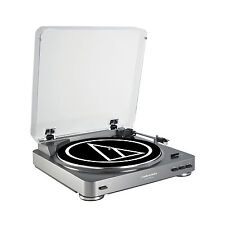 Audio Technica Fully Automatic Stereo Record Player Turntable, Silver | AT-LP60