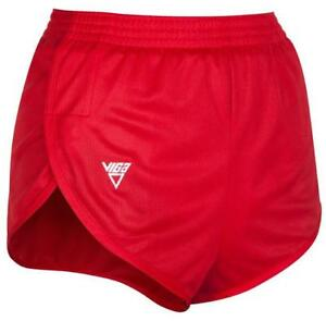 NEW Mens XS VIGA High Split Leg PACER Running Shorts Gym Sprinter RUN.187R RED