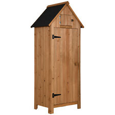 Wooden Garden Shed Tool Shed Organizer Wooden Lockers with Fir Wood 0770