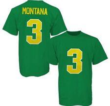 ADIDAS Notre Dame JOE MONTANA JERSEY Men's Green T-SHIRT Size M