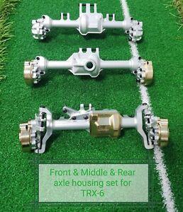 VITAVON CNC Front & Middle &  Rear Axle Housing for Traxxas TRX-6