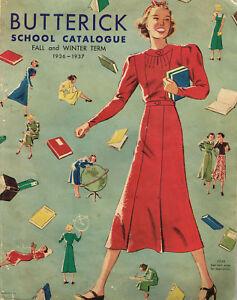 1930s Butterick School Collegiate Catalog 1936 Pattern Book Catalog E-Book on CD