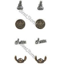 Disney Lilo & Stitch Ohana Scrump Post Insertion Metal Stud Earrings 4 Pair NEW