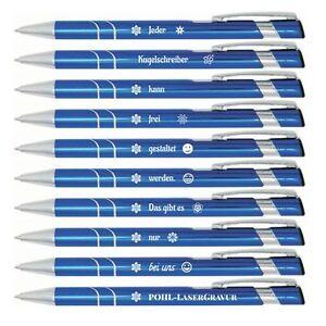 10 x Kugelschreiber mit Gravur , Gravur frei gestaltbar