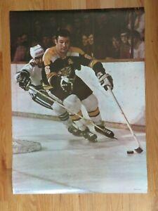 Rare Short Print 1969 Action Sport TED GREEN No. 6 BOSTON BRUINS Poster Champion
