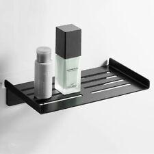 Wall Mounted Bathroom Basket Aluminum Shower Caddy Storage Shelf Rack Black