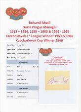 BOHUMIL MUSIL DUKLA PRAGUE MANAGER 1953-1969 RARE ORIGINAL AUTOGRAPH CUTTING
