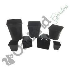 More details for square plant pots 7cm 9cm 2 3 4.5 5.5 litre l lt plastic flower pots strong