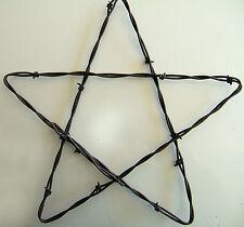 "12"" Barn Star Rusty Barb Barbed Wire Handcrafted Western Decor (Bobwire!)"