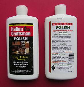 Granite and Marble Polish Italian Craftsman Polish 1-16 OZ Bottle FREE SHIPPING