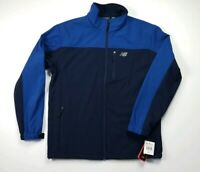 New Balance Windstopper Blue Soft Shell Jacket Full Zip-up 4 Pockets Mens Size L