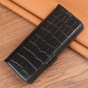 Genuine Calfskin Magnetic Leather Flip Case for SONY Xperia 1 Ⅲ/Ⅱ/5 Ⅲ/Ⅱ/10 Ⅲ/Ⅱ