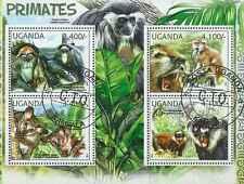 Timbres Animaux Primates Singes Ouganda 2345/8 o de 2012 lot 15469 - cote : 17 €