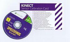 Giochi demo XBOX 360 (kinect necessario) + sensore calibrazione CARD