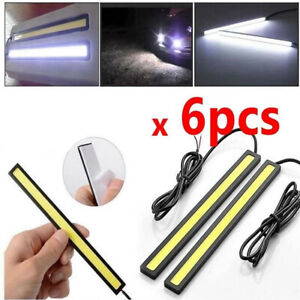 6pcs 12V LED Coche Interior Blanco Tiras de Luces Barra Lámpara Van Barco Hogar