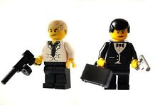 Custom Designed Minifigure - 007 James Bond & Raoul Silva Printed On LEGO Parts