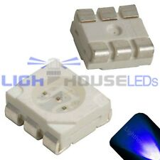 50 x LED PLCC6 5050 Blue SMD LEDs SMT Light Super Ultra Bright Light Car PLCC-6