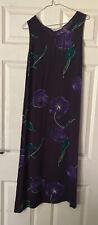 Baaitiful Purple Flower Dress Size14