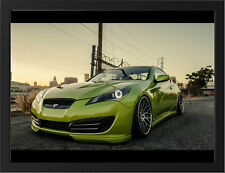 "STANCED HYUNDAI GENESIS COUPE A3 FRAMED PHOTOGRAPHIC PRINT 15.7""x11.8"""