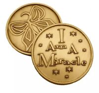 I AM A MIRACLE BRONZE AFFIRMATION CHIP AA month RECOVERY coin SERENITY BUTTERLY