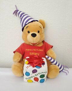 "Disney Winnie the Pooh Bear Happy Birthday Gift 15"" Plush Stuffed Animal Present"
