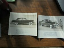 OLD BLACK & WHITE CABINET PHOTO'S FROM A KAISER-FRAZER CAR DEALERSHIP-QUITE NICE