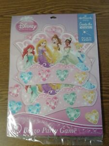 Disney Princess Ariel Belle Tia Bingo Game Birthday Hallmark Party Favor Supply