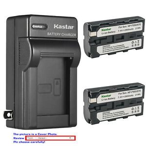Kastar Battery AC Wall Charger for Sony NP-F330 NP-F550 NP-F570 & Sony BC-VM50
