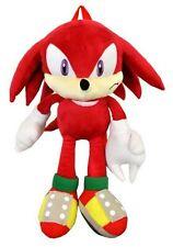 "Sonic the Hedgehog Knuckles Plush Doll Backpack 22"" Large Pillow Pal Bag Sega"