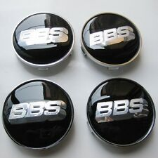 BBS 68mm BLACK SILVER WHEEL RIM CENTRE CAP  BBS WHEEL CENTER HUB CAPS