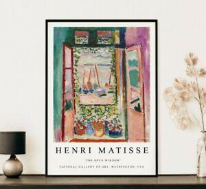 Matisse Poster, Matisse Print, The Open Window, Floral Art, Wall Art Decor