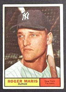 ROGER MARIS 1961 TOPPS #2 NEW YORK YANKEES LOW GRADE