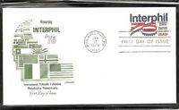 US SC #1632 Interphil '76 FDC. Artmaster Cachet