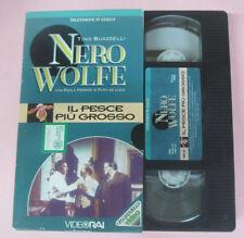 VHS film IL PESCE PIU'GROSSO Tino Buazzelli Paolo Ferrari NERO WOLFE(F173)no+dvd