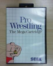 Pro Wrestling (Sega Master, 1986) Tested! Complete! Fast Shipping!