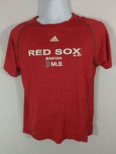 Adidas ClimaLite Boston Red Sox Baseball Short Sleeve Shirt -Red- Boys XL 18/20