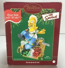 Carlton Cards Homer Simpson Christmas Ornament-D'oh! Tangled In Lights-MIB! EA