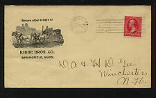 US  Kebbe Bros great ad cover horse & wagon Springfield, MA  1902     SR0614