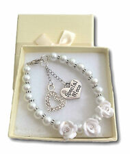Gift Charm Bracelet Birthday Xmas Grand Daughter Niece Sister Present 18cm White Neice