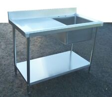 New Commercial Catering Kitchen Stainless Steel Sink 100cm Single Bowl 1metre