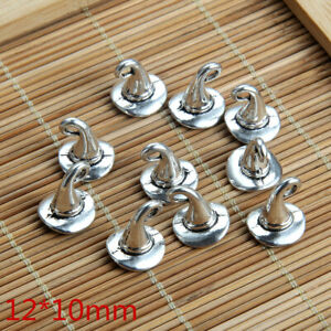 8pcs Hat Witches Beads Tibetan Silver Charms Pendant DIY Bracelet 12*10mm
