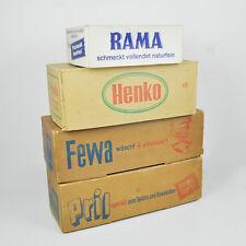 Pril Fewa Henko Rama – Alte Verpackungen Deko – Vintage Old Packaging Germany