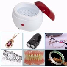 Mini Ultrasonic Wave Cleaner Battery Operated Watch Eyeglasses Jewelry UK Stock