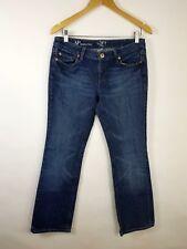 Ann Taylor Loft Women's Modern Boot Cut Dark Blue Stretch Denim Jeans 8P X 29