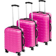 TecTake 402671 Set de Maletas de Viaje 3 Piezas - Rosa