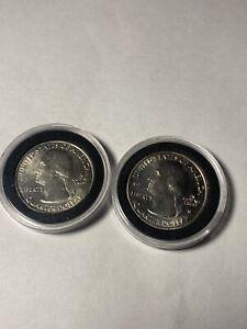 2020 W American Samoa Quarter West Point V75 Privy West Point Mint Lot Of 2