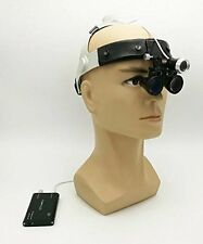 Dental Surgical Binocular 3.5X420mm Leather Headband Loupe with LED Headlight CE